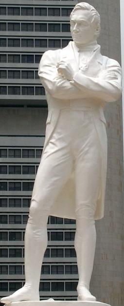 Statue of Sir Stamford Raffles in Singapore, based on the original by Thomas Woolner
