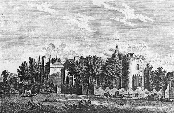 An 18th-century engraving of the villa