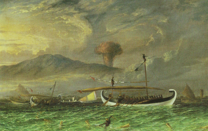 Possible depiction of the eruption of the Tambora.