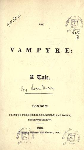 "Frotspiece to Polidori's ""The Vampyre""."