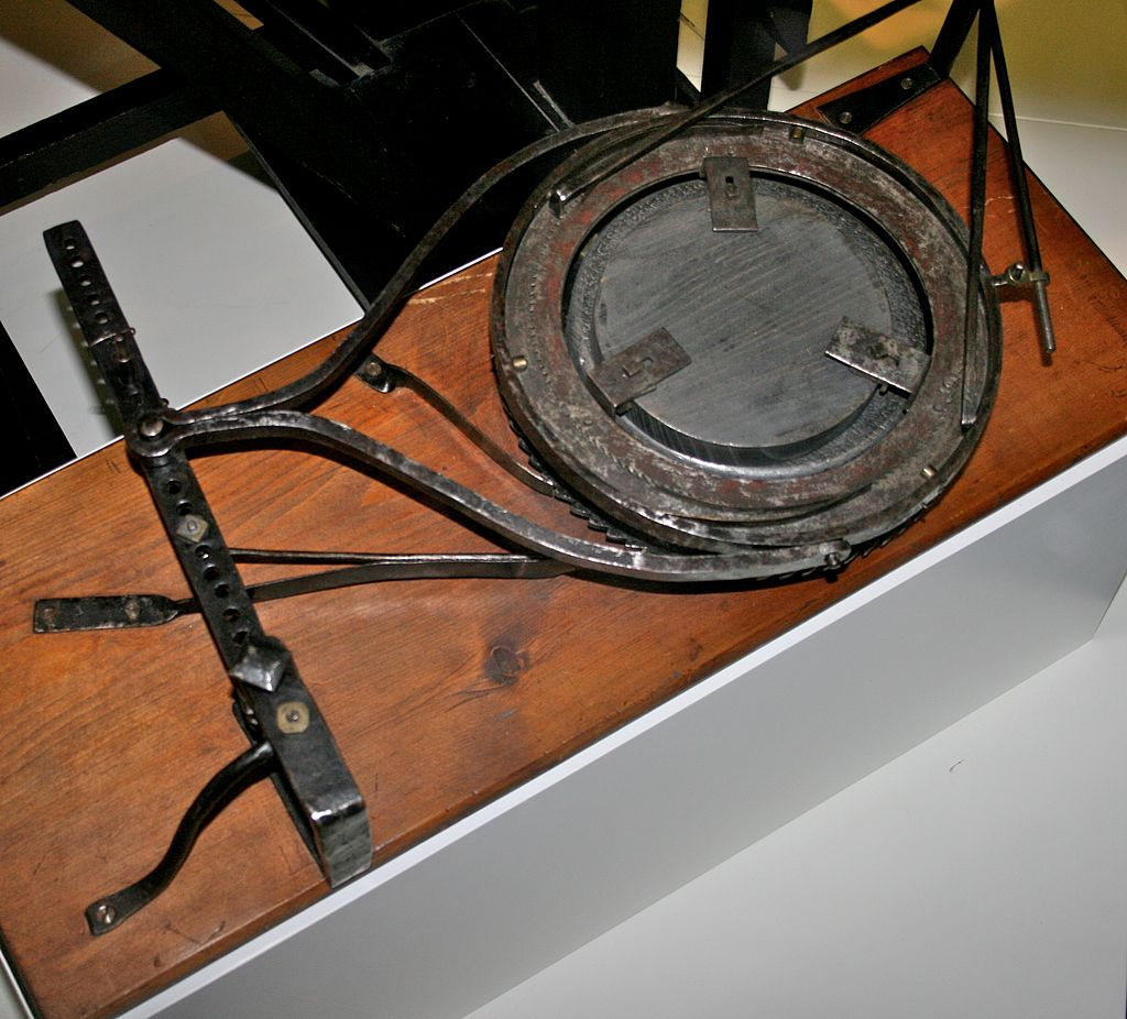 Herschel's mirror polisher, on display in the Science Museum, London.
