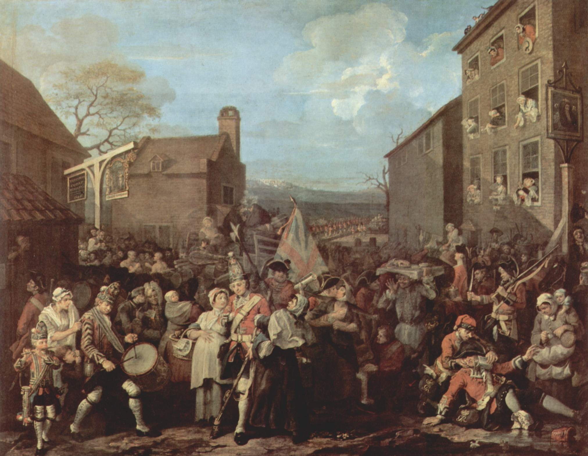 La Marcha de los Guardias a Finchley, por William Hogarth, 1750