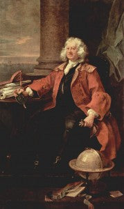 Thomas Coram pintado por William Hogarth, 1740