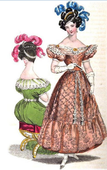 REPOSITORY OF FASHIONS D'ACKERMANN, AVRIL 1829.