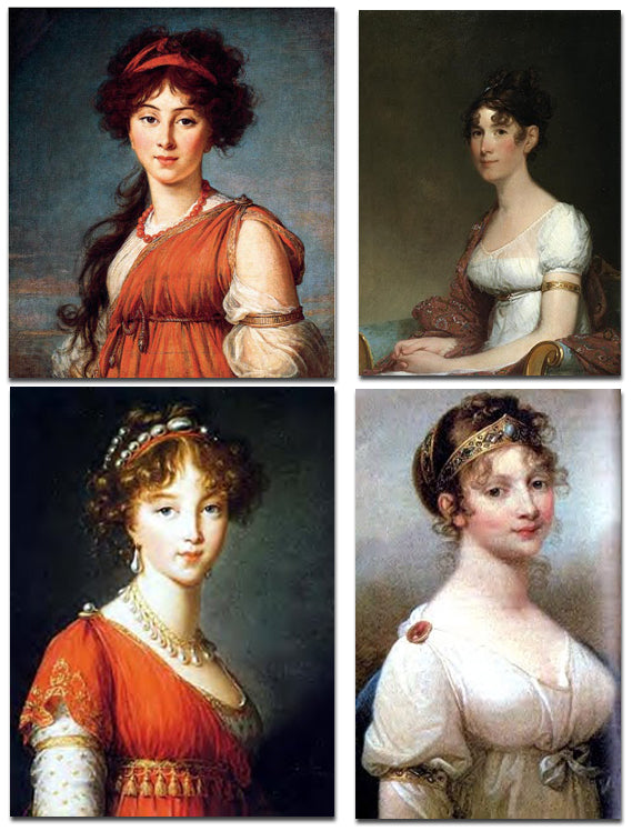 Period portraits show a variety of armlet styles