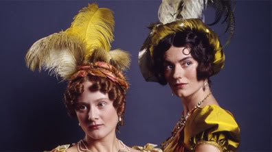 The Bingley sisters epitomized London style and elegance in 1995's Pride and Prejudice by A&E/BBC.
