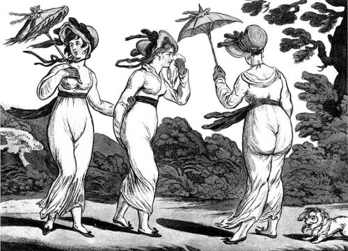 The Three Graces in High Wind, James Gillray, 1810