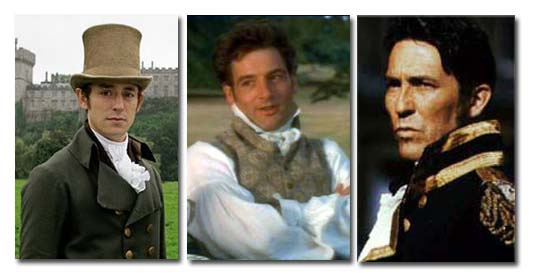 A few of Mr. Darcy's companion heroes: