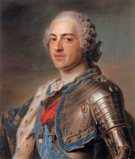 Louis XV wearing the