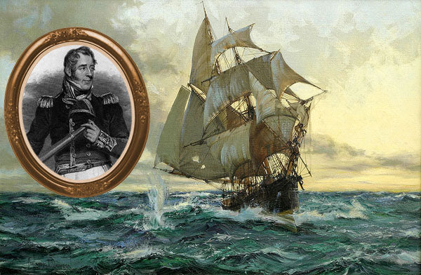 Captain Thomas Cochrane and a ship of the day