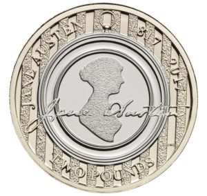 Tha Jane Austen News is that Jane is on a £2 coin