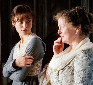 Mrs Bennet and Elizabeth Bennet in the Jane Austen News