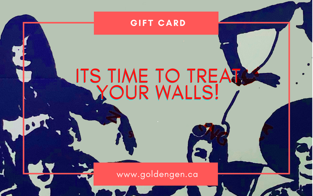 Treat your walls Gift card - Goldengen