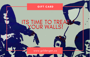 Treat your walls Gift card - Goldengen Print