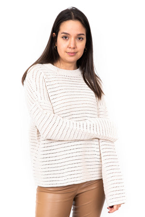 Le tricot ajouré / Open knit sweater