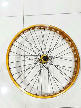 MOTORIZED BICYCLE SE Bikes 26in Fat Wheel Set Golden COLOR