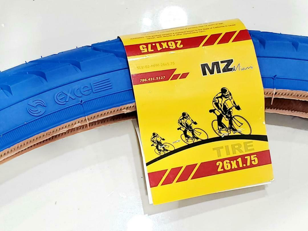 """26 X 1.75/"""" 3 Bike Tire BLUE Fits All 26 inch Bicycles NEW STREET TIRE"""
