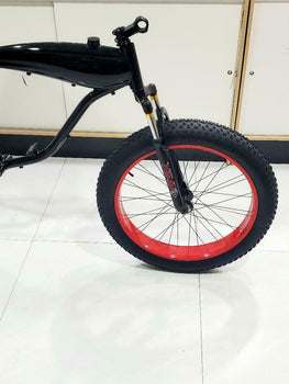 MOTORIZED BICYCLE SUSPENSION FORK  BUILT IN  DISC BRAKE 26X4