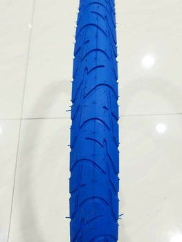 28X1.1/2 TIRE BICYCLE(40-635)ONE HIGH QUALITY STREET BLUE TIRE  AND 1 INNER TUBE