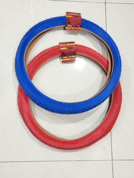 20 x2.125 TIRE ONE RED AND ONE BLUE HIGH QUALITY BMX Street