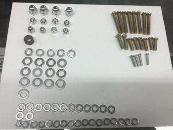 MOTORIZED BYCICLE MOTOR CASES SCREWS  SET WASHERS AND NUTS FOR CYLINDER STUDS
