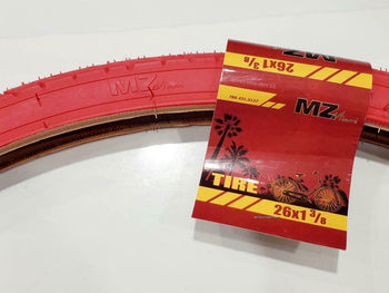 26X1 3/8 TIRES(37-509)THREE RED HIGH QUALITY STREET TIRES