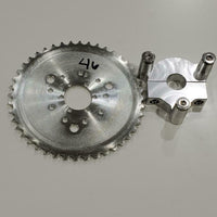 "1"" Hub 415 Chain CNC 46T Sprocket With Adapter 49cc-80cc  Motorized Bicycle"