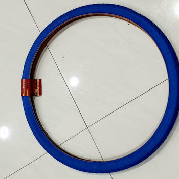 26X1 3/8 BICYCLE  TIRE (37-509)ONE HIGH QUALITY BLUE  BICYCLE STREET TIRE