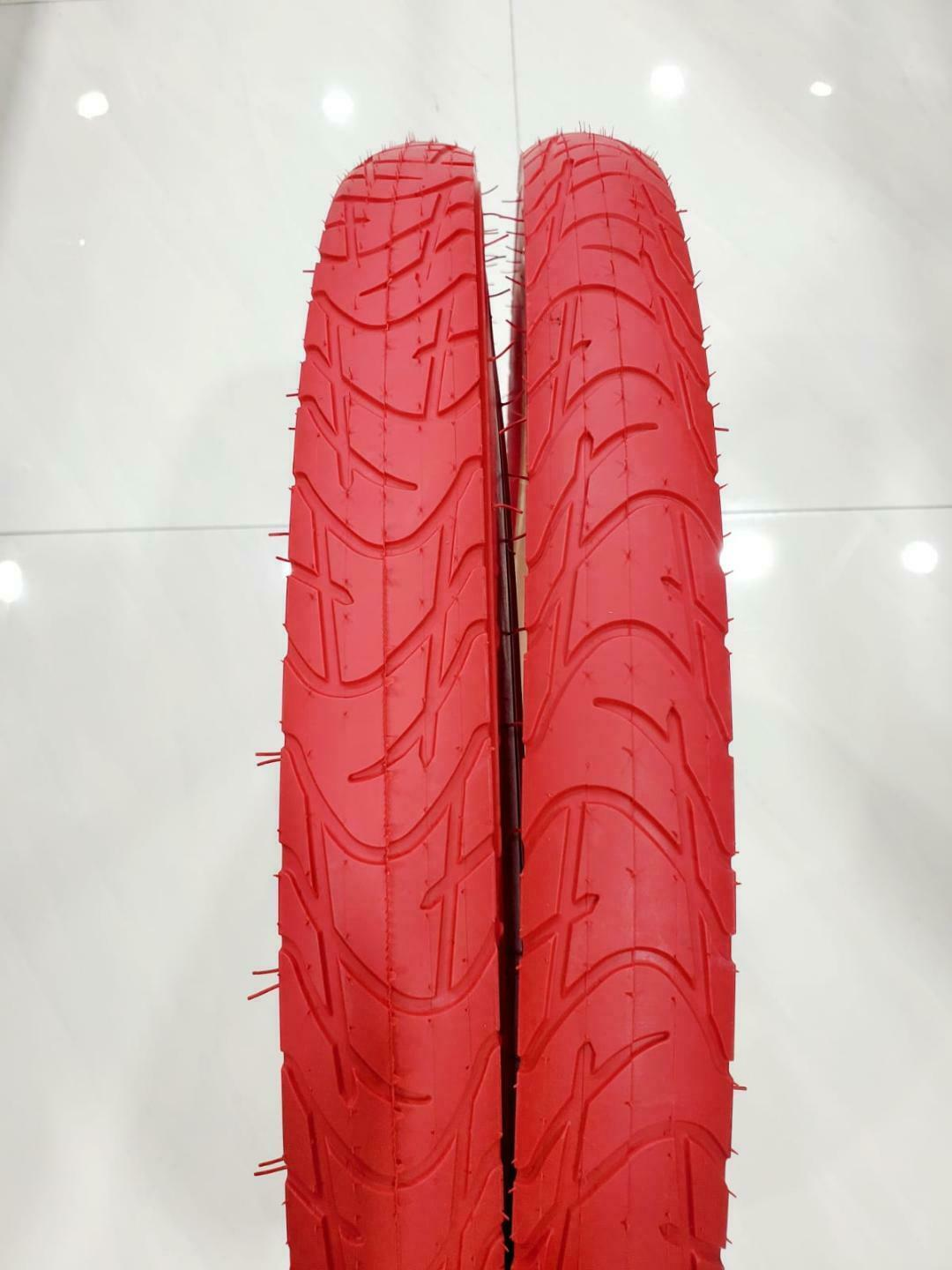 26 x 2.125 TWO HIGH QUALITY RED STREET DESIGN  TIRES AND  2 INNER TUBES 57-559