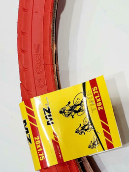 26 X1.75 TIRE BICYCLE (47-559) ONE HIGH QUALITY BICYCLE  RED STREET TIRE