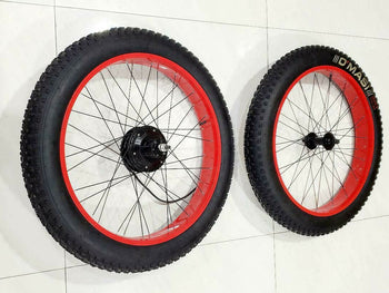 ELECTRIC BICYCLE 36V350W FRONT  AND  REAR WHEEL WITH MOTOR TIRES INNER TUBES