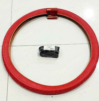 26 x2.125 TIRE (57-559)ONE HIGH QUALITY RED STREET  TIRE AND ONE  INNER TUBE
