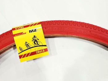 26X1.50 TIRE BICYCLE (40-559)ONE HIGH QUALITY RED STREET TIRE AND  1 INNER TUBE