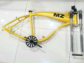 Motorized bicycle gas frame 2.5l with crank set ,triple tree fork,headset,neck Y