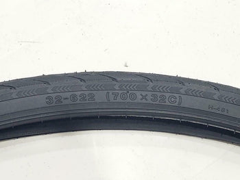 700X32C TIRES (32-622) TWO HIGH QUALITY BLACK BICYCLE TIRES STREET TIRES