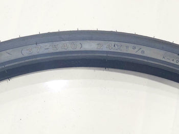 24x1 3/8 TIRES (37-540)TWO HIGH QUALITY BLACK BICYCLE STREET  TIRES