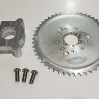"1.5"" Hub 415 Chain CNC 46T Sprocket With Adapter 49cc-80cc  Motorized Bicycle"