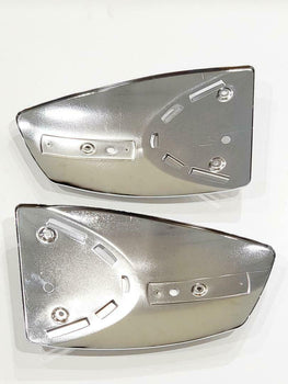 MZ TS 250 METAL AND RUBBER GAS TANK COVERS AND EMBLEMS, ESCARCHA GOMAS EMBLEMAS