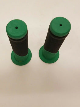 UNIVERSAL MOTORCYCLE AND  MOTORIZED BICYCLES  HAND GRIPS GREEN-B