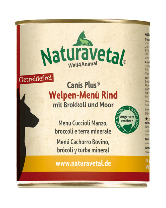 Naturavetal Canis Welpen-Menue Rind