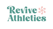 Revive Athletics secondary logo in Jade colored type and grapefruit logo.