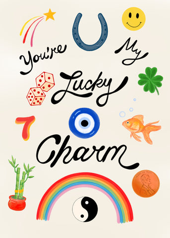 You're my lucky charm greeting card