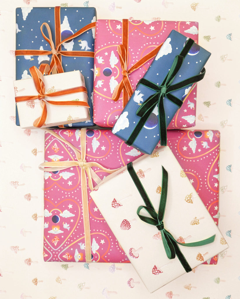 Gift Wrap (Moon Doves)