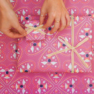 Gift Wrap (Mirrored Hearts)