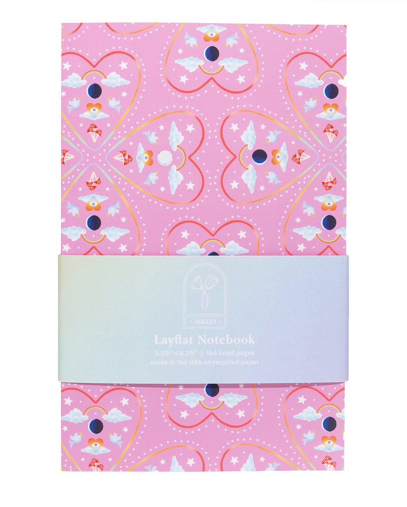 Mirrored Hearts Layflat Notebook