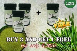 Buy 3 and Get 1 FREE Cansiter Pure Barley 110grams