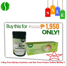 Load image into Gallery viewer, SANTE PURE BARLEY CANISTER + 1 BOX FUSION COFFEE FREE