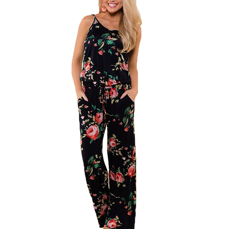 Rompers Boho Style Floral Print Jumpsuit