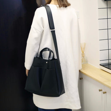 Leather Casual Big Tote Vintage Handbags