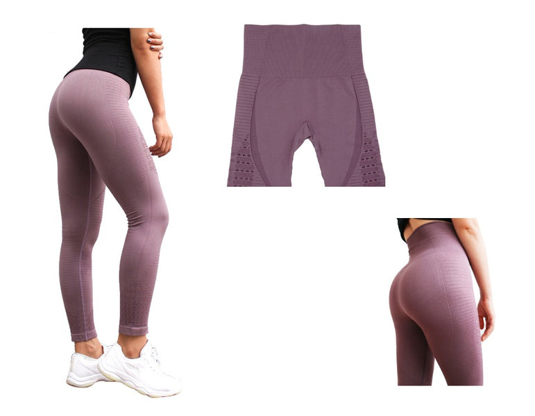 High Waisted Gym Shark Seamless Yoga Pants Leggings